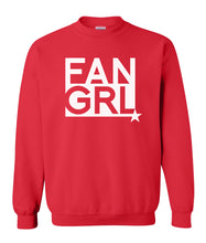 Load image into Gallery viewer, red fan girl sweatshirt