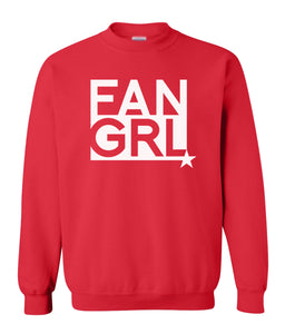 red fan girl sweatshirt
