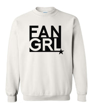 Load image into Gallery viewer, white fan girl sweatshirt