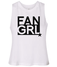Load image into Gallery viewer, white fan girl cropped tank top