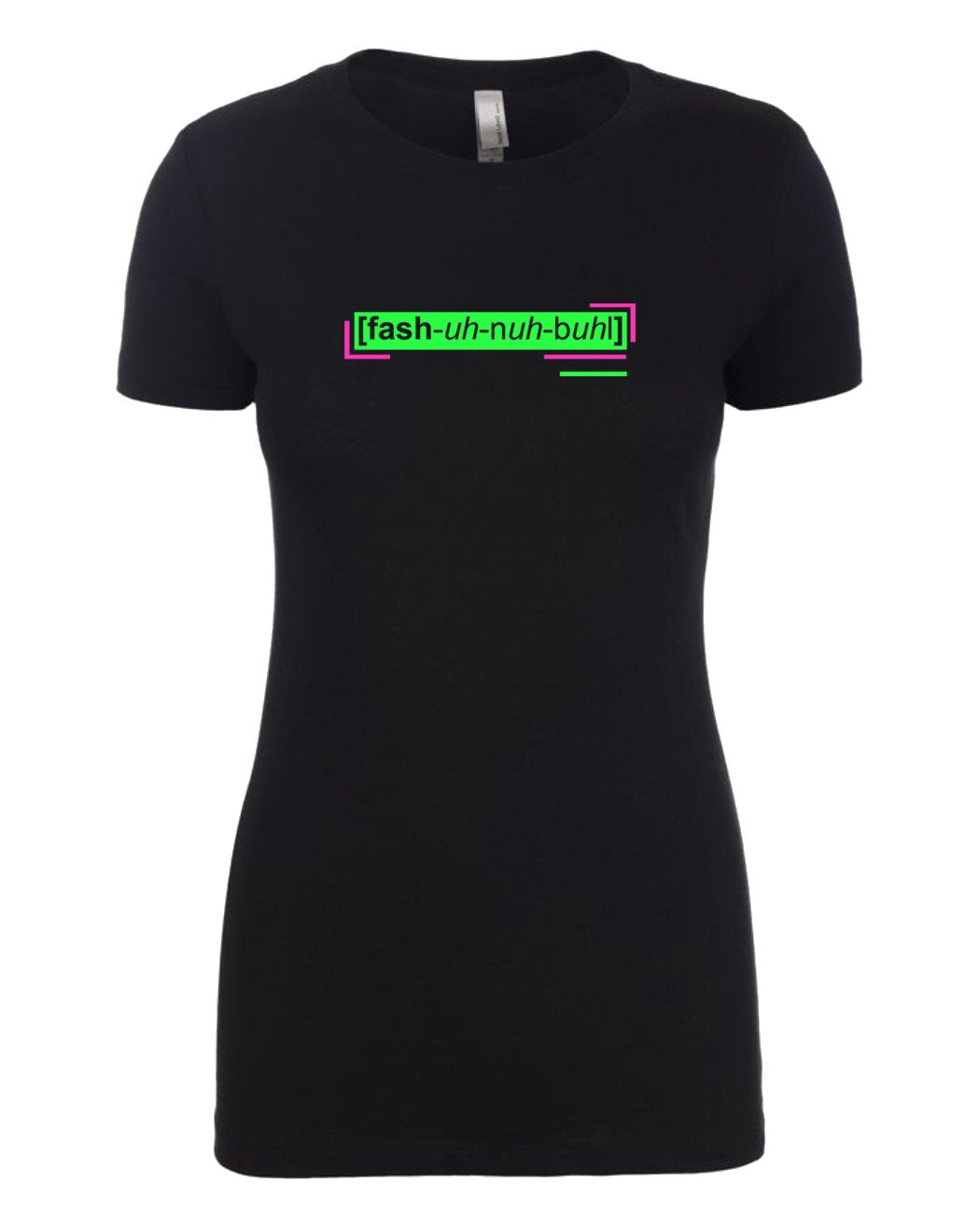 florescent green fashionable neon streetwear t shirt for women