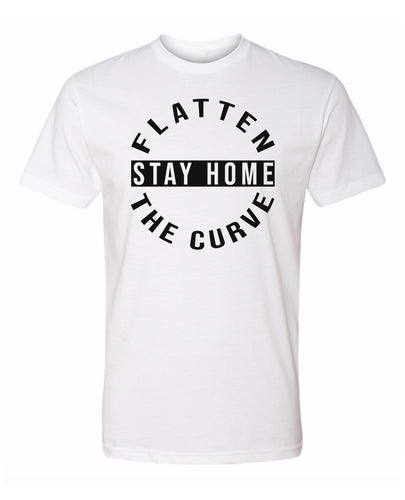 flatten the curve and stay home t-shirt