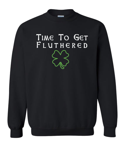 black fluthered St Pattys Day sweatshirt