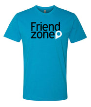 Load image into Gallery viewer, turquoise friend zone crewneck t shirt