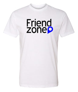 white friend zone crewneck t shirt
