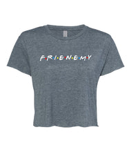 Load image into Gallery viewer, antique denim frienemy crop top t shirt