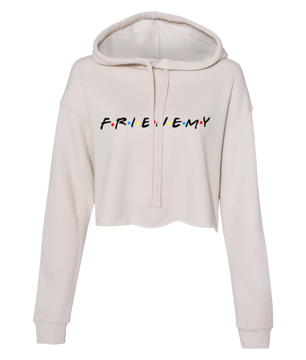 dust frienemy crop top hoodie