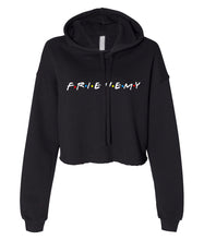 Load image into Gallery viewer, black frienemy crop top hoodie