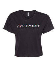 Load image into Gallery viewer, black frienemy crop top t shirt