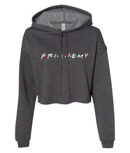 Load image into Gallery viewer, charcoal frienemy friends crop top hoodie