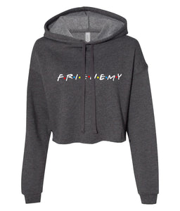 charcoal frienemy friends crop top hoodie