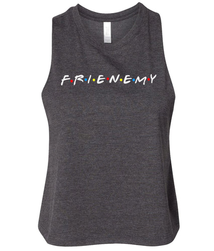 charcoal frienemy cropped tank top