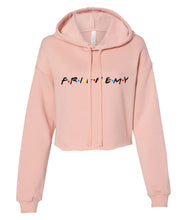 Load image into Gallery viewer, peach frienemy friends crop top hoodie