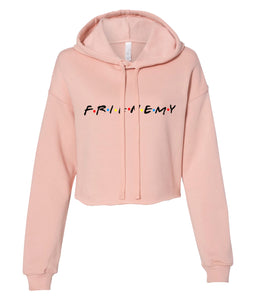 peach frienemy friends crop top hoodie