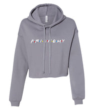 Load image into Gallery viewer, stone frienemy friends crop top hoodie