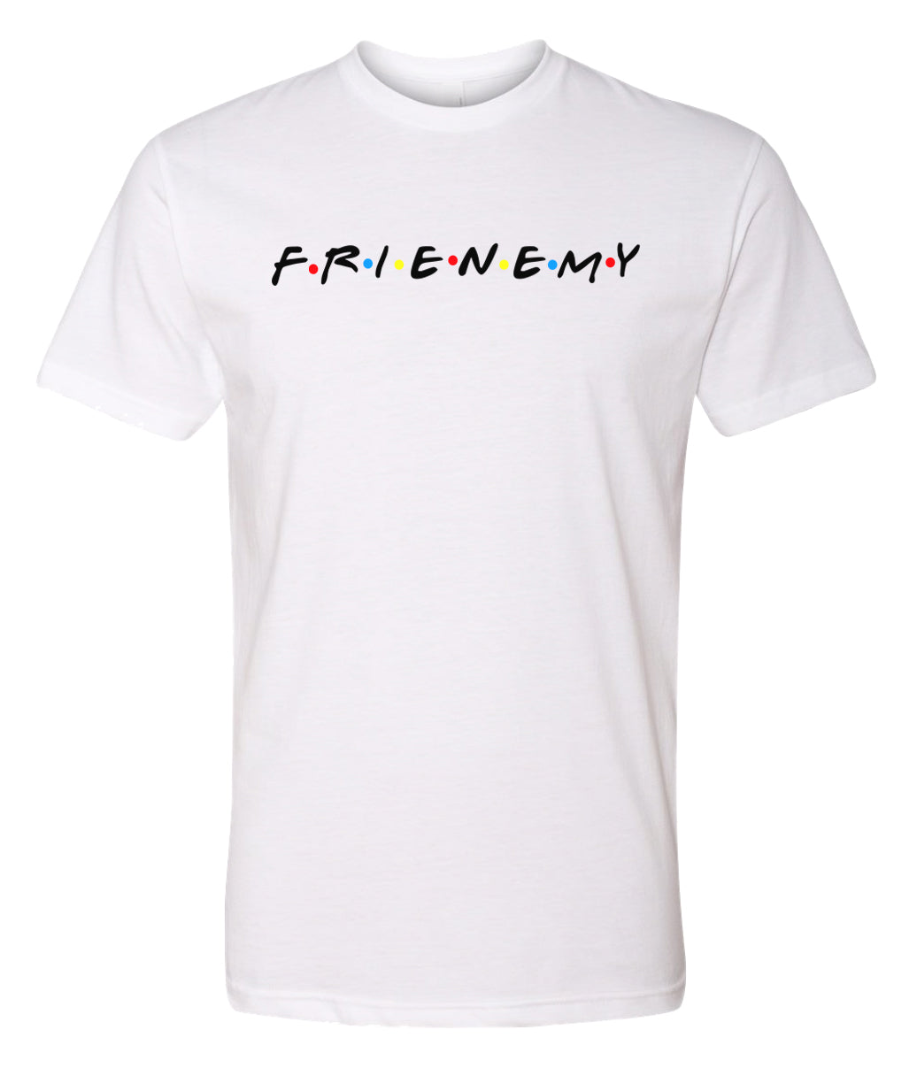 white frenemy crewneck t shirt