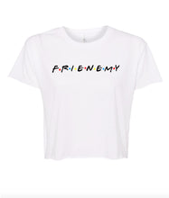 Load image into Gallery viewer, white frienemy crop top t shirt