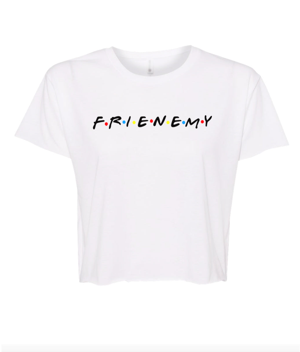 white frienemy crop top t shirt