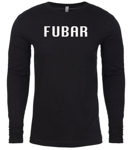 black fubar mens long sleeve shirt