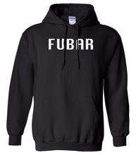 Load image into Gallery viewer, black FUBAR hooded sweatshirt for women