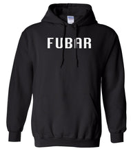 Load image into Gallery viewer, black fubar mens pullover hoodie