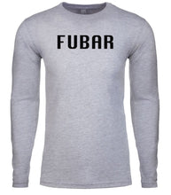 Load image into Gallery viewer, grey fubar mens long sleeve shirt