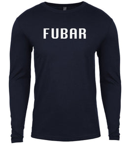 navy fubar mens long sleeve shirt