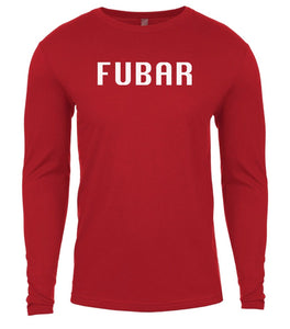 red fubar mens long sleeve shirt