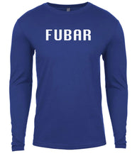 Load image into Gallery viewer, blue fubar mens long sleeve shirt