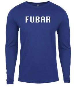 blue fubar mens long sleeve shirt