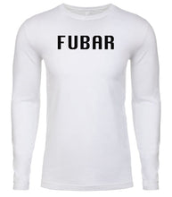 Load image into Gallery viewer, white fubar mens long sleeve shirt