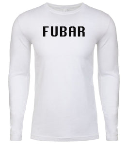 white fubar mens long sleeve shirt