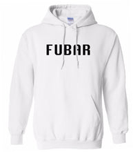 Load image into Gallery viewer, white fubar mens pullover hoodie
