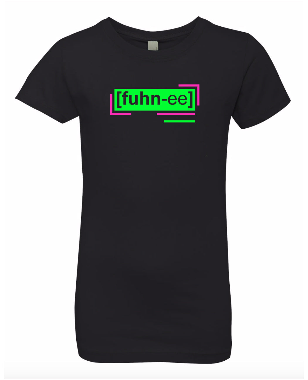 florescent green funny neon streetwear t shirt for girls