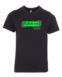 florescent green funny neon streetwear t shirt for kids