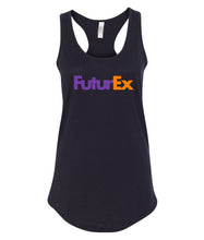 Load image into Gallery viewer, black future ex racerback tank top