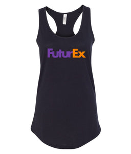black future ex racerback tank top