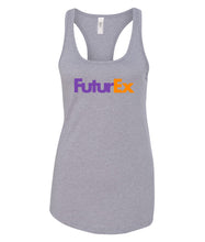 Load image into Gallery viewer, grey future ex racerback tank top