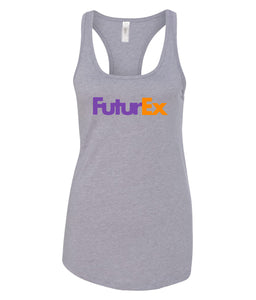 grey future ex racerback tank top