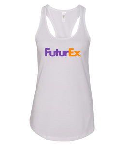 white future ex racerback tank top