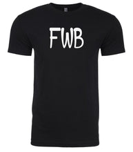 Load image into Gallery viewer, black fwb mens crewneck t shirt
