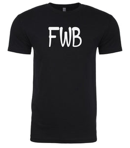 black fwb mens crewneck t shirt
