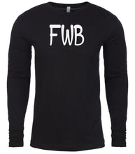 Load image into Gallery viewer, black fwb mens long sleeve shirt