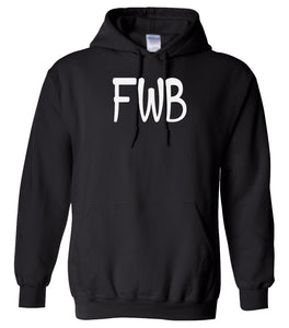 black FWB hooded sweatshirt for women
