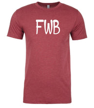 Load image into Gallery viewer, cardinal fwb mens crewneck t shirt