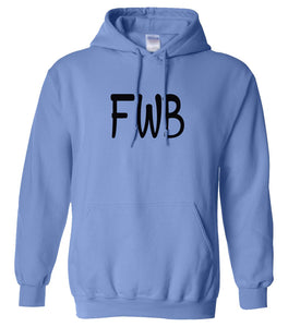 blue FWB hooded sweatshirt for women