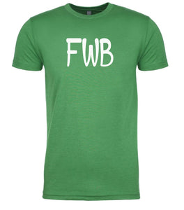 green fwb mens crewneck t shirt