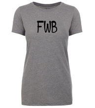 Load image into Gallery viewer, grey fwb womens crewneck t shirt