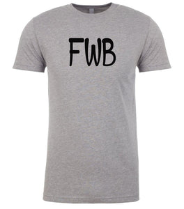 grey fwb mens crewneck t shirt