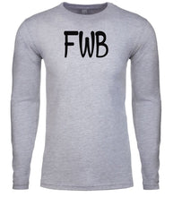 Load image into Gallery viewer, grey fwb mens long sleeve shirt